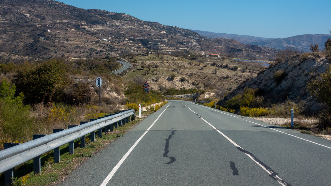 Road towards Troodos from Paphos